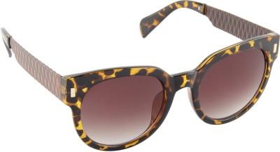 Farenheit 1517-C4 Cat-eye Sunglasses(Brown)