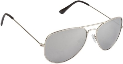 Sapphire Silver Mirror Aviator Aviator Sunglasses