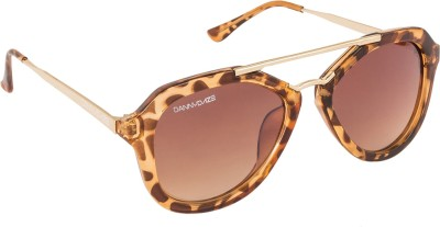 Danny Daze D-1008-C2 Wayfarer Sunglasses(Brown)