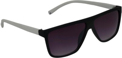 Gansta Gansta Rs-1032 Black & White Sunglass Wayfarer Sunglasses(Grey)