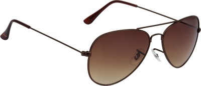 Fave FAV012 Aviator Sunglasses(Brown)