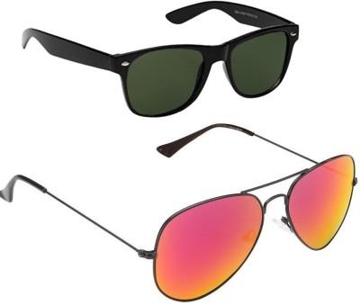 VIJEX POLARIZED | MIRRORED RED Wayfarer, Aviator Sunglasses