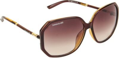 Danny Daze D-268-C1 Over-sized Sunglasses(Brown)