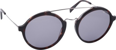 Mango Pickles Ro-5009-Demi-Gun Metal Round Sunglasses(Black)