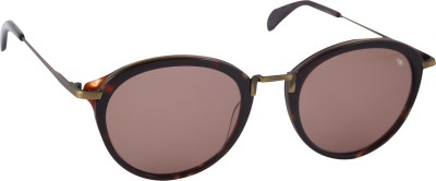 Mango Pickles F-6018-Demi-Rose-Gold Round Sunglasses(Brown)