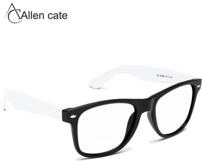 Allen Cate White Side Clear Vision Wayfarer Sunglasses