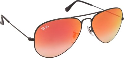 Ray-Ban RB3025 58 002/4W Aviator Sunglasses(Pink)