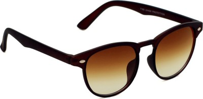 6by6 SG1443 Round Sunglasses(Brown)