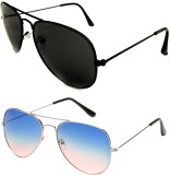 Barbarik az001 Aviator Sunglasses (Black...