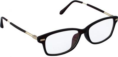 20Dresses Old Is Gold Black Clear Glasses Rectangular Sunglasses