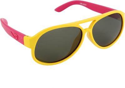 Gansta Gansta HR-1010 Pink & Yellow Kids polarized lens sunglass Aviator Sunglasses(For Boys)