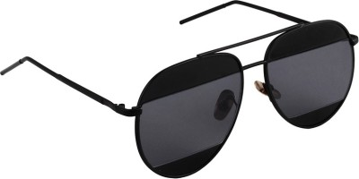 6by6 SG1666 Aviator Sunglasses(Black)