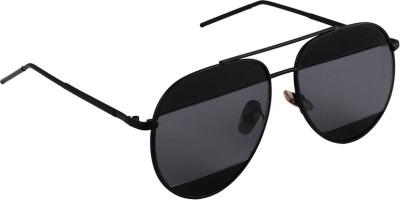 6by6 SG1666 Aviator Sunglasses(Black)