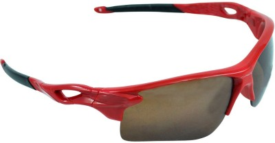 Alphaman Red Racer Style Crusader Sports Sunglasses