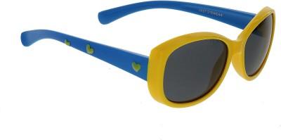 Vast KIDS_SMART_HEART_YELLOW_BLUE Cat-eye Sunglasses(For Boys)