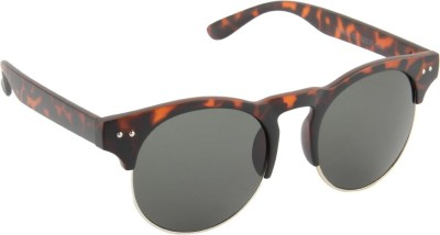 Funky Boys 3035-C3 Round Sunglasses(Grey)