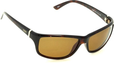 IDEE IDEE-S2006-C2P Wrap-around Sunglasses(Brown)