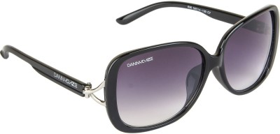 Danny Daze D-259-C1 Over-sized Sunglasses(Black)