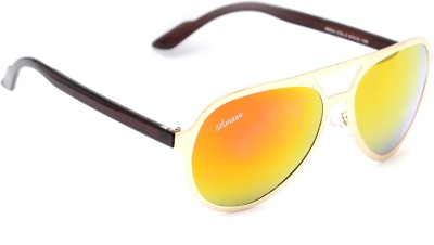 Amaze AM0991 Aviator Sunglasses(Yellow, Orange)