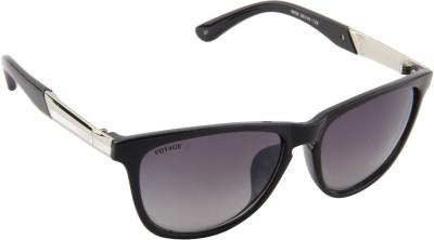 Voyage MG503 Oval Sunglasses(Black)