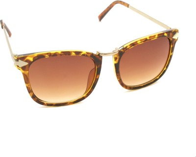 6by6 SG681 Rectangular Sunglasses(Brown)