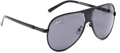 Amaze AM0941 Aviator Sunglasses(Black)