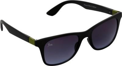 Floz 007SM Black & Green Wayfarer Sunglasses. Rectangular Sunglasses
