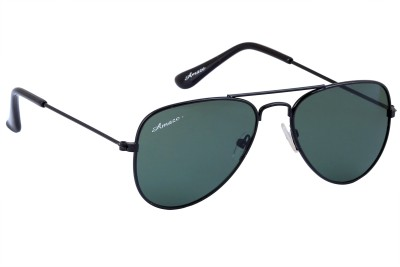Amaze Kids Green Lens With Black Frame Aviator Sunglasses