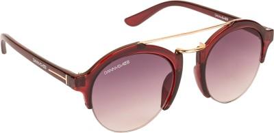 Danny Daze D-4015-C4 Round Sunglasses(Violet)
