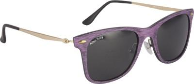Allen Solly Wood-Finish Wayfarer Wayfarer Sunglasses