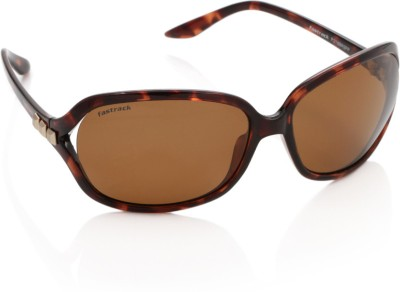 Fastrack P218BR2FP Over-sized Sunglasses(Brown)