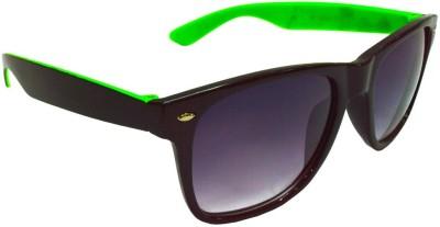 Goggy Poggy FW405-BLK-GRN Wayfarer Sunglasses