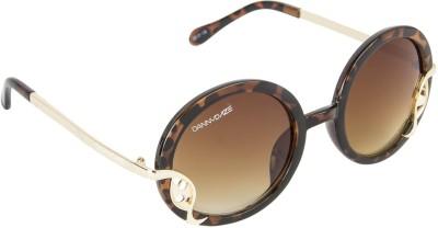 Danny Daze D-2121-C2 Round Sunglasses(Brown)