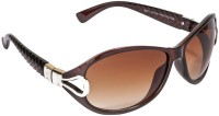 VESPL 6106 Over-sized Sunglasses(Brown)