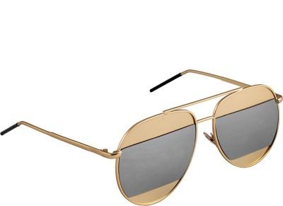 6by6 SG1661 Aviator Sunglasses(Grey)