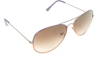 6by6 SG329 Aviator Sunglasses(Brown)
