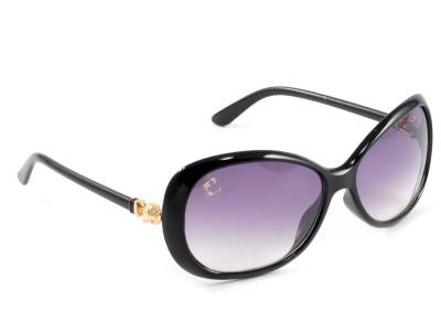 Clark N, Palmer F194 Black Over-sized Sunglasses