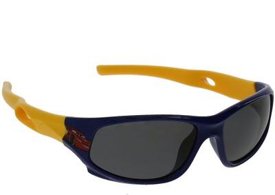 Vast KIDS_SMART_SPORTS_SPECIAL_DARK_BLUE_YELLOW Sports Sunglasses(For Boys)