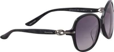 Celine Dion CD5132S C1 Oval Sunglasses(Grey) at flipkart