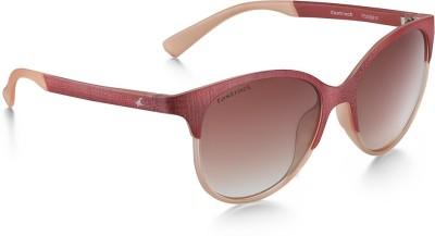 Fastrack P335BR1F Round Sunglasses(Brown)