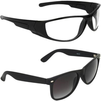 Fashion Addiction Com13 Spectacle Sunglasses(Black, Clear)