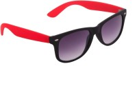 Gansta Gansta GN-3006 Black Red wayfarer sunglasss with gradient lens sunglass Wayfarer Sunglasses(Grey)