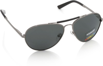 Polaroid X4400A Aviator Sunglasses(Grey)