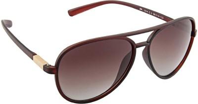 Farenheit 1314P Aviator Sunglasses(Brown)