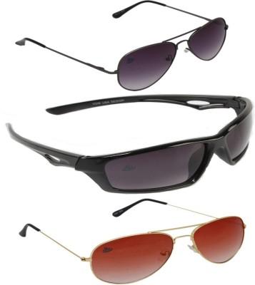ABLOOM Aviator, Oval, Aviator Sunglasses