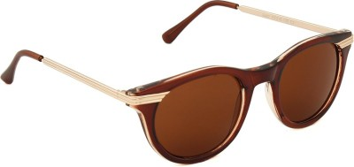 6by6 SG1609 Round Sunglasses(Brown)