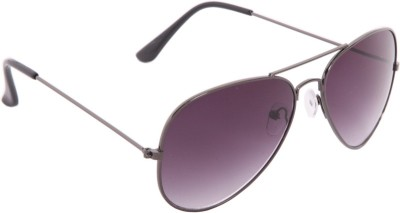 Gansta Gansta GN-3002 Grey gradient Lens Avaitor Sunglass. Aviator Sunglasses(Grey)