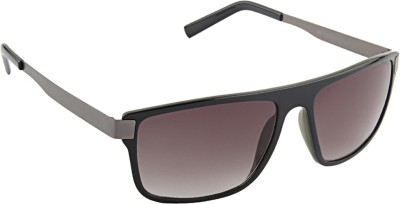 Farenheit �1281-c3 Rectangular Sunglasses(Black)