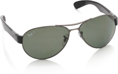 Ray-Ban 0RB3509 004/9A Aviator Sunglasses(Green)