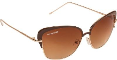 Danny Daze D-2874-C2 Oval Sunglasses(Brown)